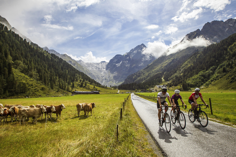 Road cycling near Innsbruck