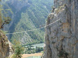 Via ferrata in the Southern French Alps