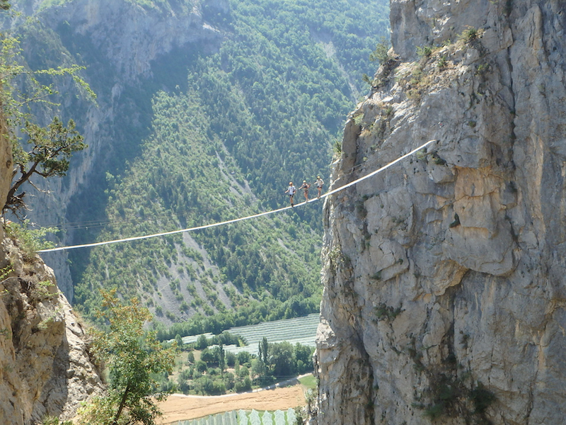 Via ferrata in the Southern French Alps