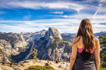Woman in Yosemite National Park
