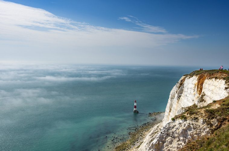 Beachy Head in mist