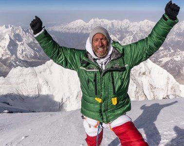 Ben Fogle on the summit of Mount Everest