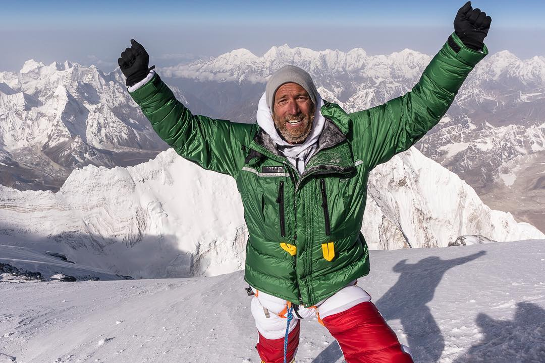 Ben Fogle on the summit of Mount Everest