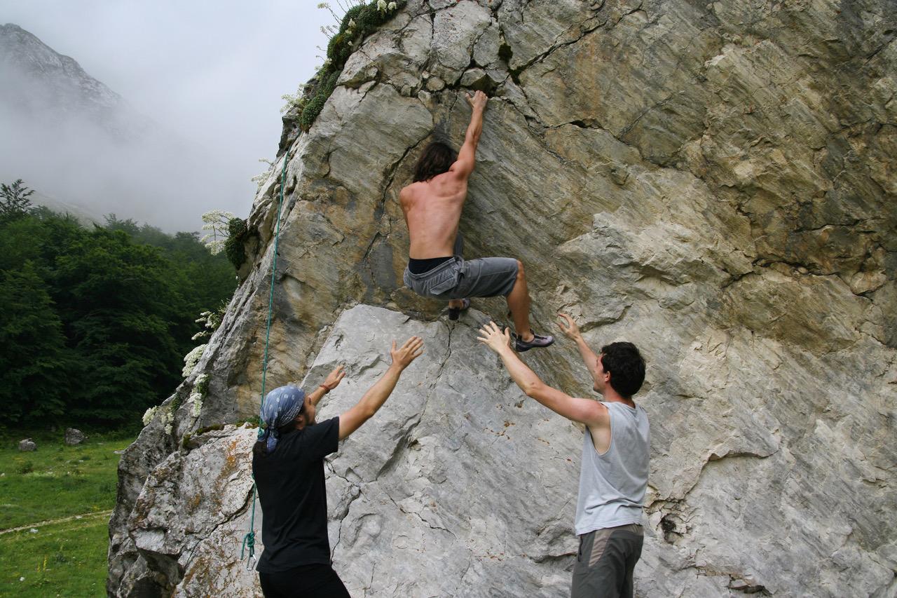 Climbing Gran Sasso Italy