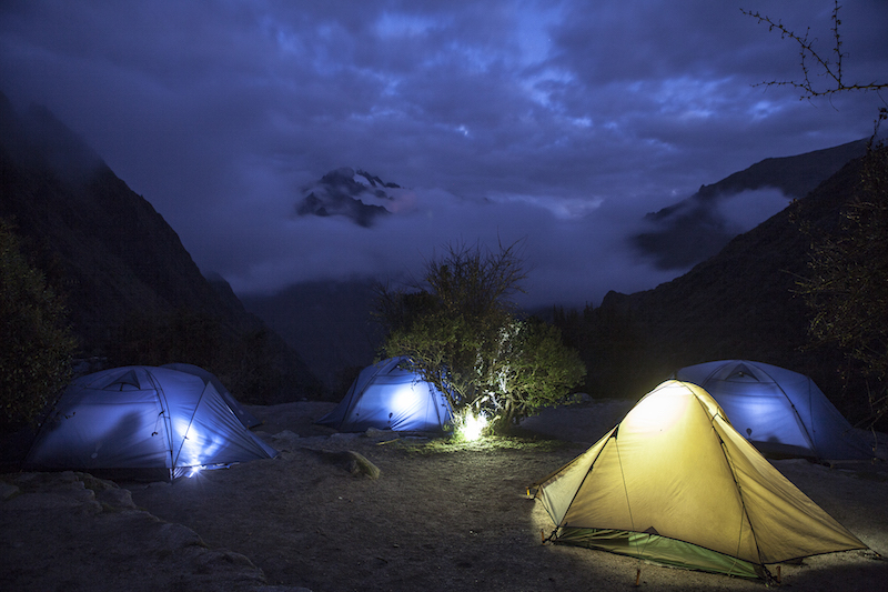 Inca Trail camp