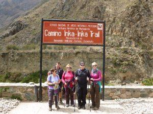 Inca Trail sign