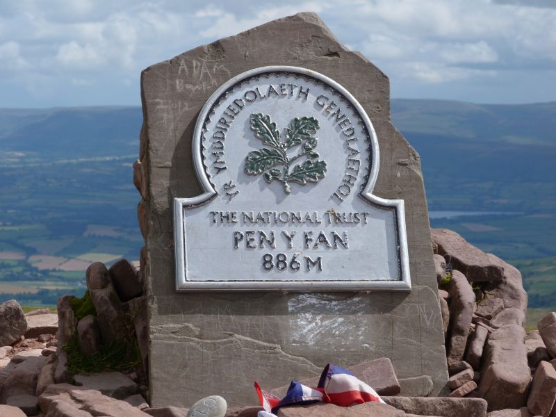 National Trust Pen y Fan sign