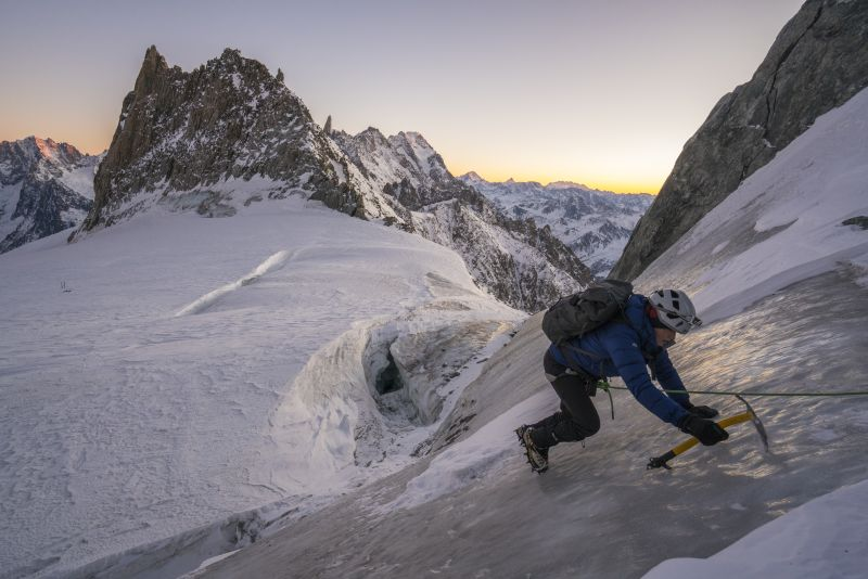 Victoria Pendleton ice climbing