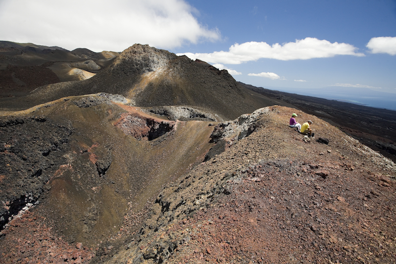 Volcano in the Galapagos