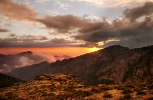 Sunset GR20 Corsica