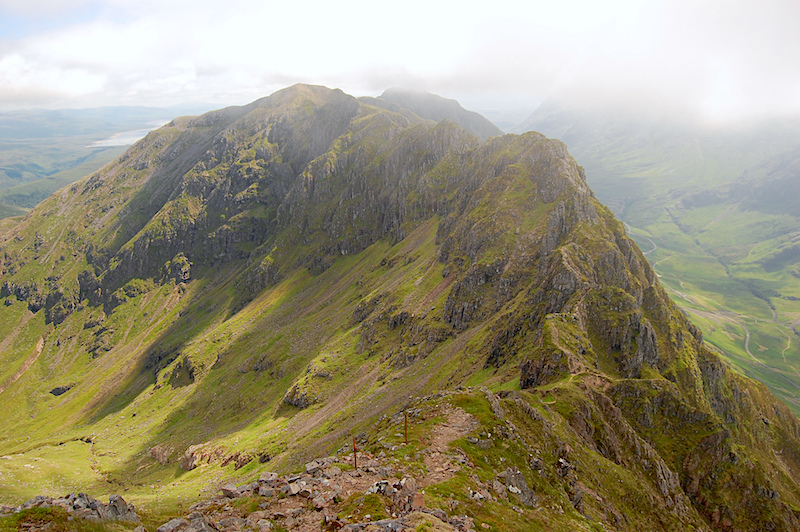 What is scrambling Aonach Eagach Scotland Scrambling route