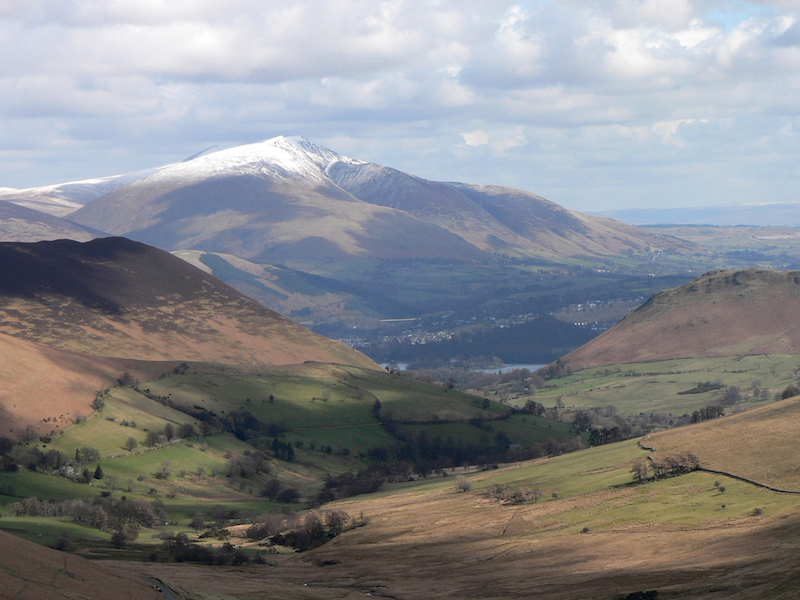 Image of the mountain Blencathra in the Lake District, England