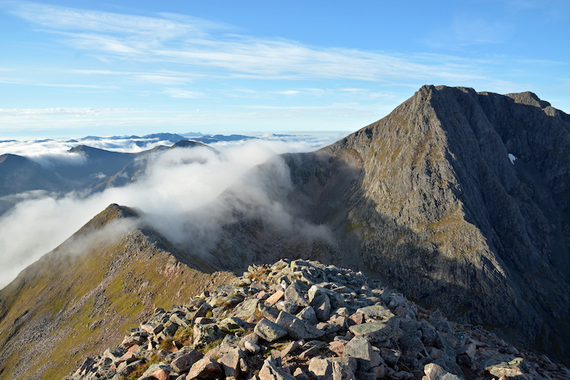 Carn Mor Dearg Arete scramble Ben Nevis Scotland