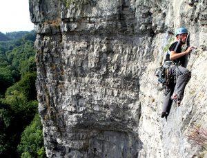 Rock climbing in the peak district