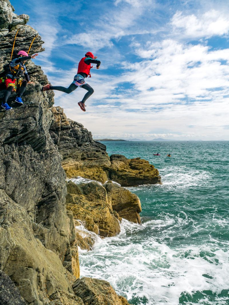 coasteering anglesey - UK summer bucket list