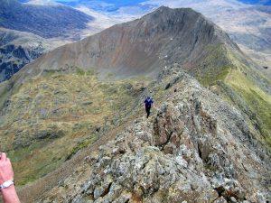 Crib Goch ridge scramble Snowdonia wales