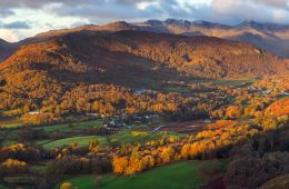 View of the Lake District in England