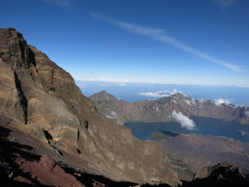 mount rinjani, lombok - hiking destinations outside of europe