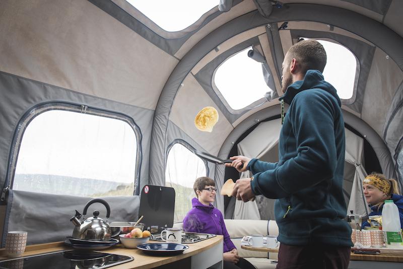 Opus camper inside