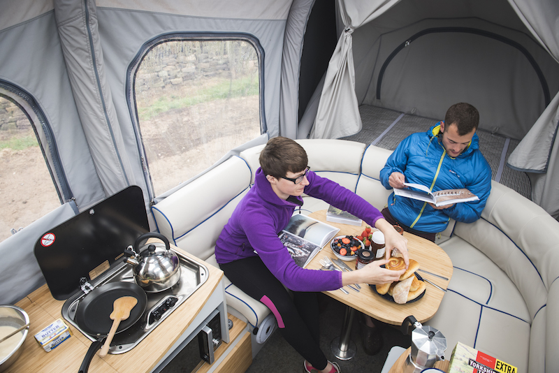Opus camper kitchen