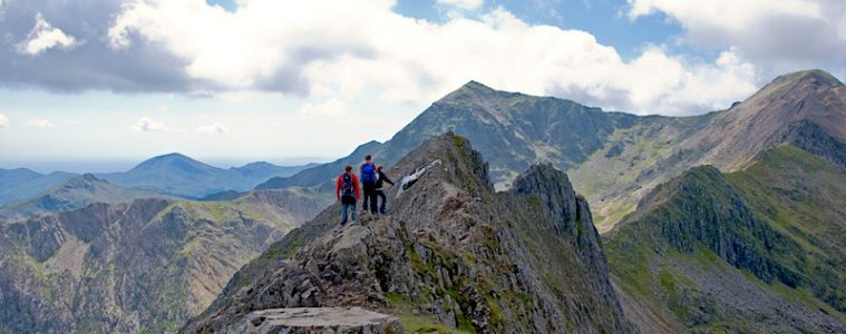 What is scrambling? Crib Goch Snowdonia Wales