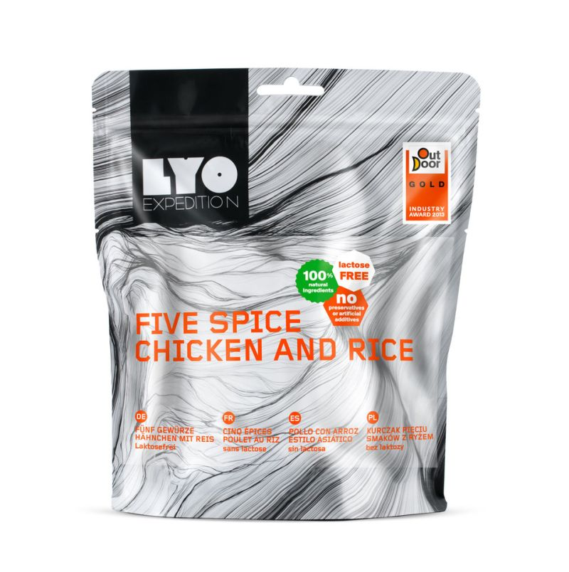 LYO Expedition chicken and rice - camping food camping meals