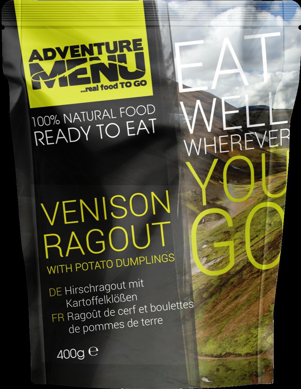 Venison-ragout-with-potato-dumplings - camping food camping meals