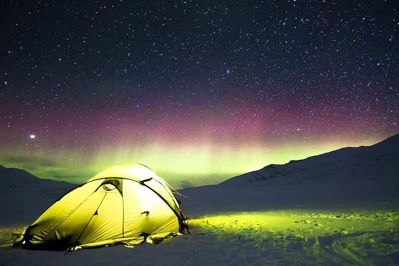 best two-person tents camping Northern Lights
