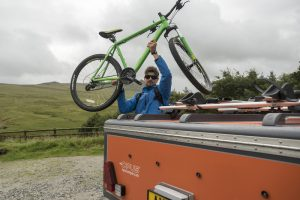 bike storage Opus camper