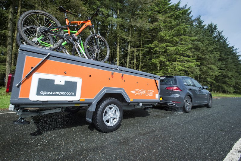 bikes attaches to the Opus camper