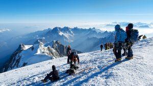 Climbers reach Mont Blanc summit