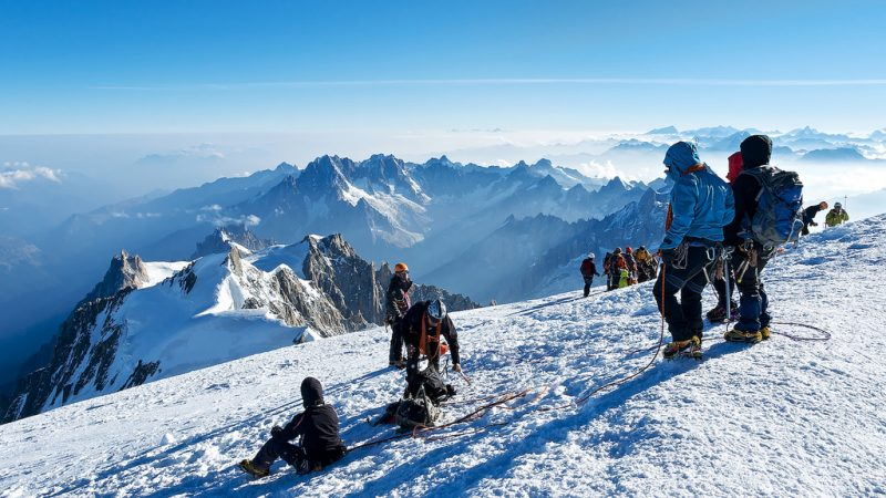 Climbers reach Mont Blanc summit