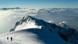 hikers how to climb Mont Blanc