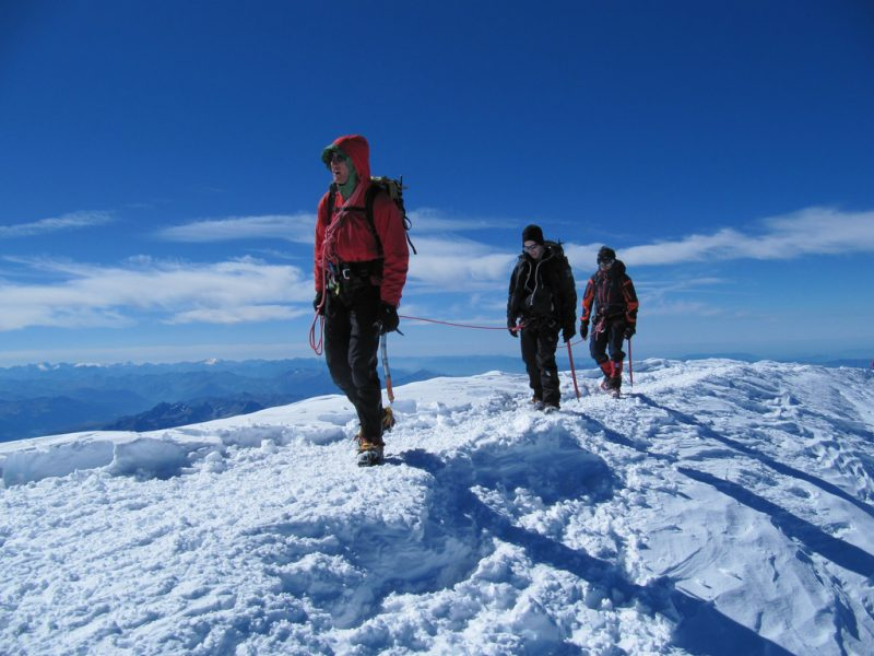 hikers trekking Mont Blanc Alps