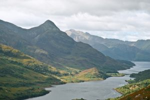 An image from the West Highland Way, long-distance hikes in the UK