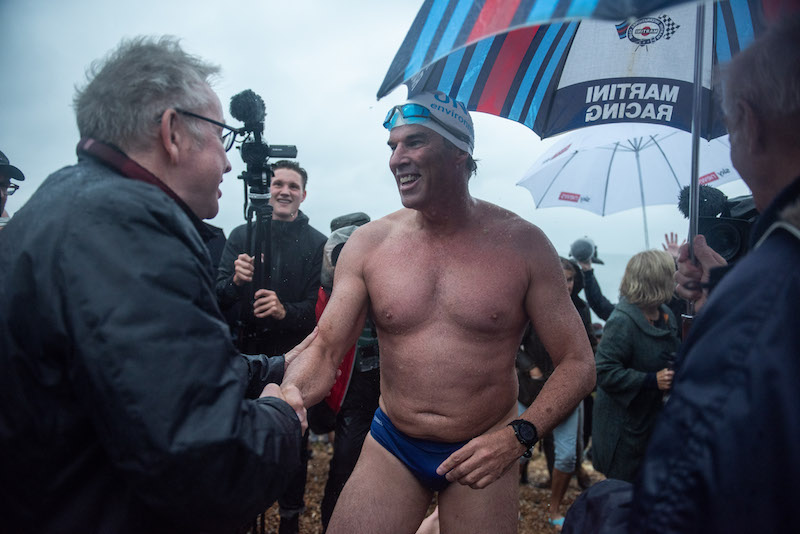 Lewis Pugh sets English Channel swim world-record