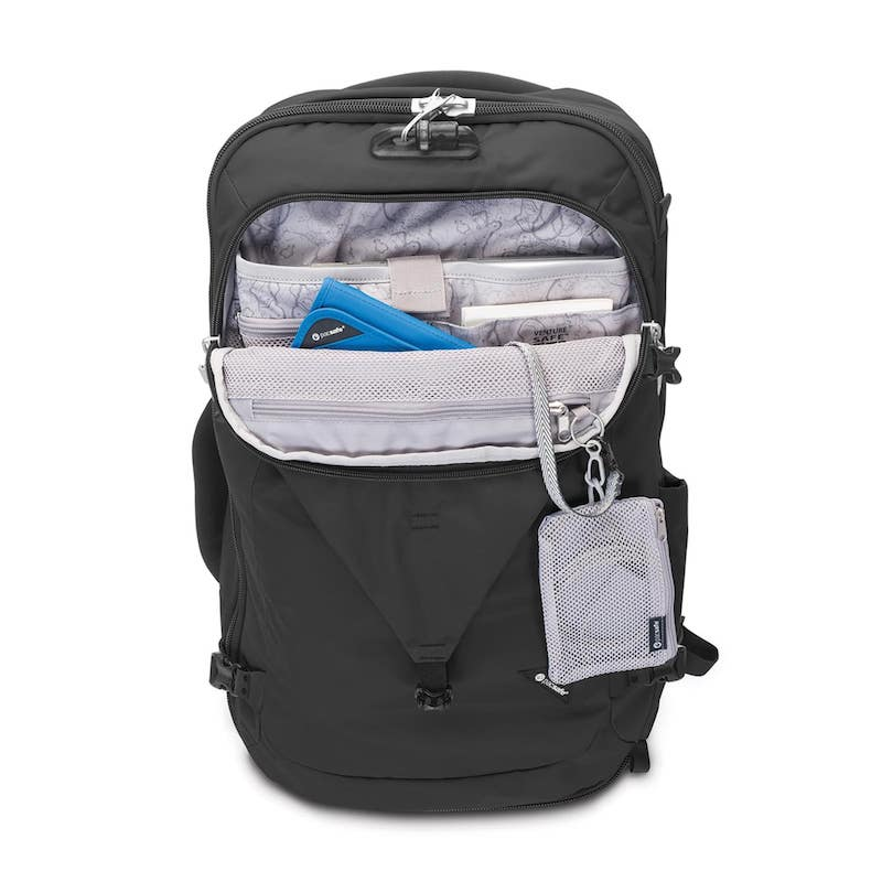 Pacsafe Venturesafe Anti-Theft 45L Travel Pack pockets
