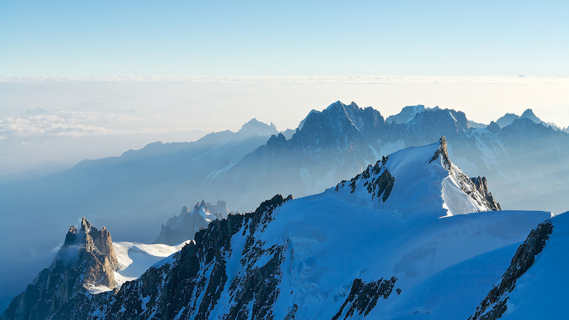 ridge Mont Blanc