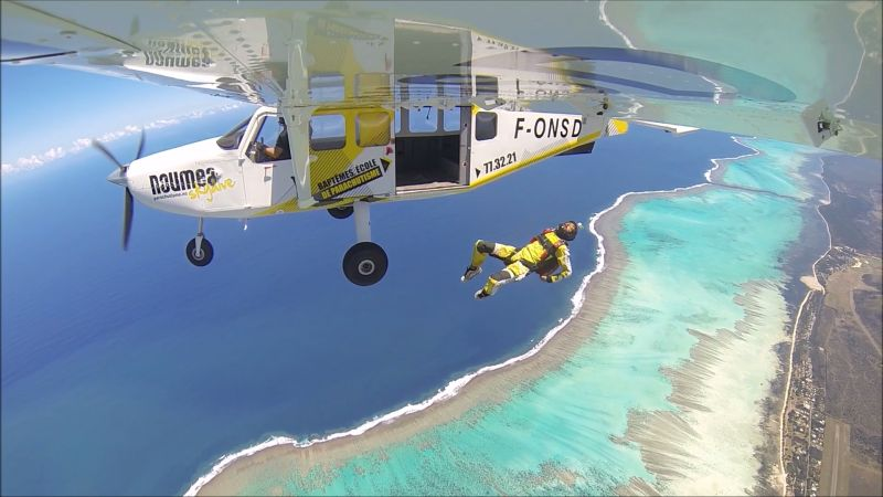 skydiving - New Caledonia