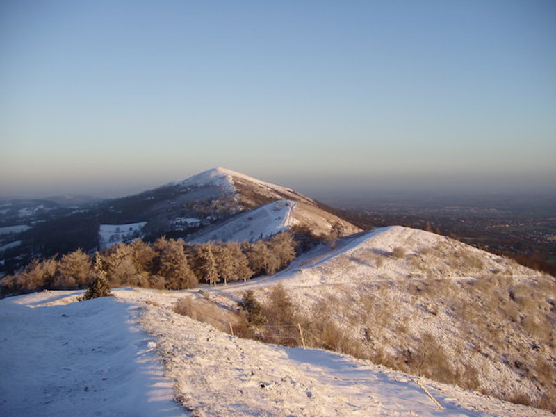 best UK walking routes for winter - Worcestershire beacon malvern hills