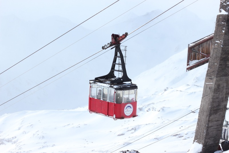 mount elbrus lift - europe's highest mountain