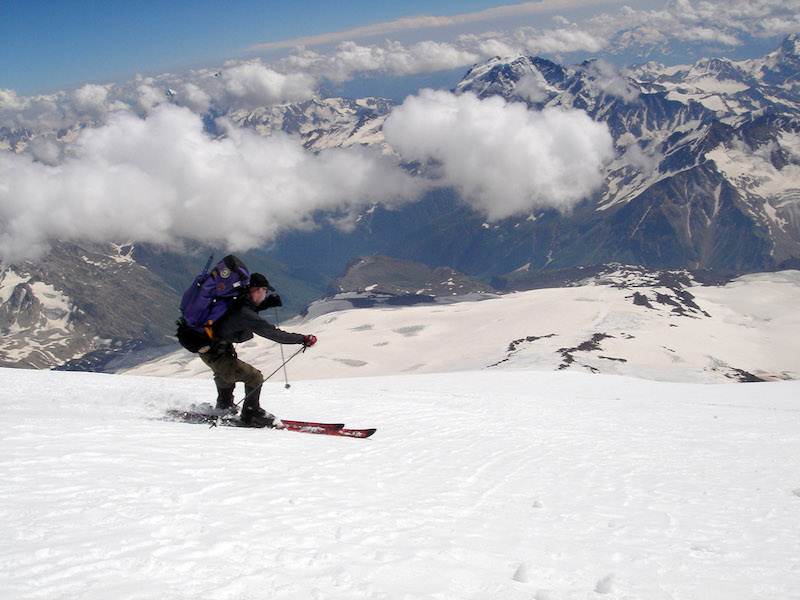 ski mount elbrus europe's highest mountain