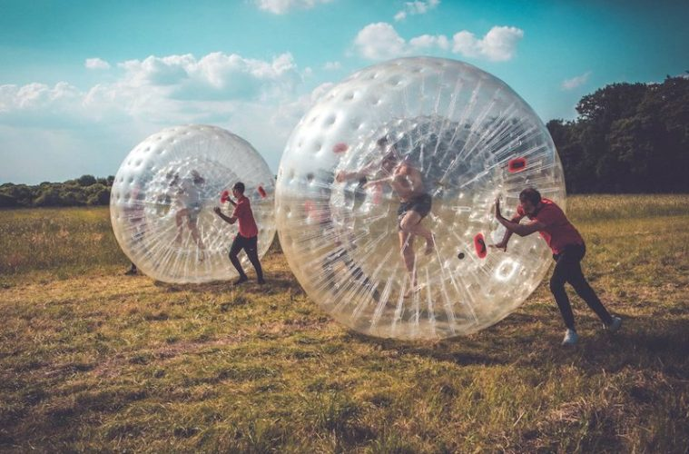 Camp Wildfire zorbing