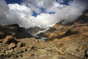 low areas of europe's highest mountain - mount elbrus
