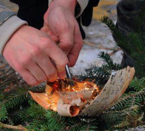Survival Skills: lighting a fire