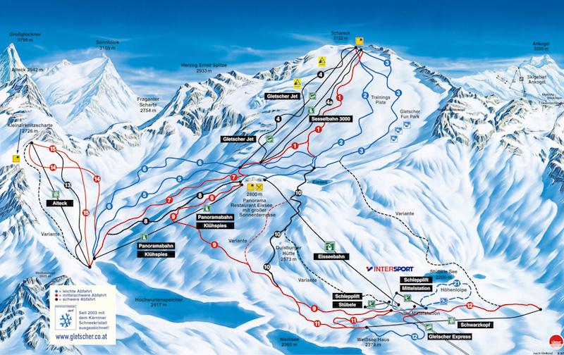 Mölltaler glacier - best ski resorts in austria