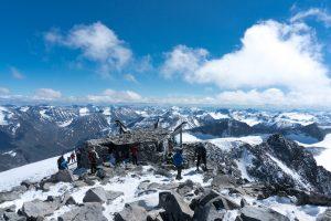 summit of Galdhøpiggen, highest mountain in norway