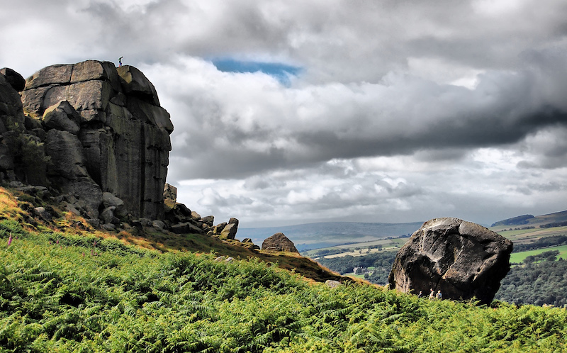 ilkley moor cow and calf - best Yorkshire dales walks