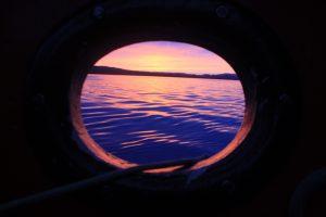 traditional tall ship sunset sailing