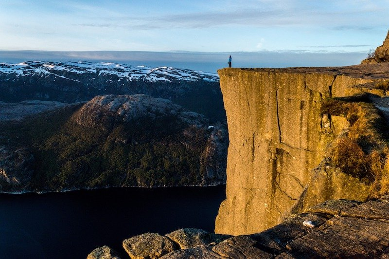 Pulpit's rock, most incredible hiking in norway